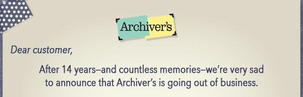 archiver's closing